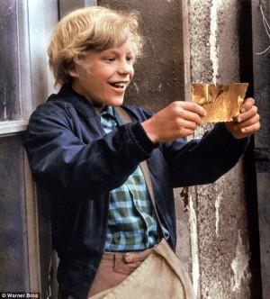 Charlie Bucket and his golden ticket