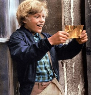 Charlie Bucket and his golden ticket